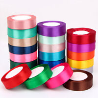 "Satin Ribbon 50 100 Yd Yard Roll 1/4"" 1/2"" 1"" 2"" 3"" in Inch Gift Wrapping Bulk"