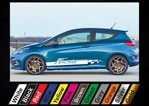 2pcs stickers Ford Fiesta St graphics side stripe decal sticker #7