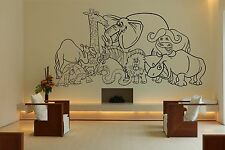 Wall Room Decor Art Vinyl Sticker Mural Decal African Safari Animal Funny FI759