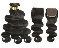 "Malaysian human hair, high quality grade 8A, 16""18""20""+14"" closure, 100g/bundle"