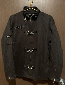 SPIRAL DIRECT Gothic Coat Jacket Denim Orient Black Vampire Size Medium