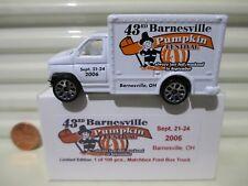Matchbox 2006 43rd BARNESVILLE OHIO PUMPKIN FEST Ford Box Truck New in Mint Box