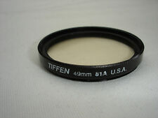 Tiffen 81A 49mm Filter - light balancing (4981A)