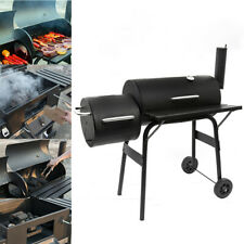 Large Charcoal BBQ Smoker Barrel Grill Foot Cooking Outdoor Garden Barbecue