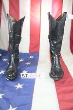 Stivali (Cod.ST1631) usato N.37 pelle Nero Donna Cowboy biker Texani