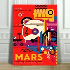"COOL NASA TRAVEL CANVAS ART PRINT POSTER - Mars - Space Travel - 12x8"""