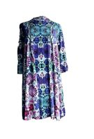 Free People Womens Long Sleeved Purple Floral Shift Dress Size Petite Small