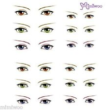 Parabox Obitsu 1/6 bjd Doll Dollfie Head Deco Eye Decal Sticker 20 (12 Pairs)
