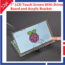 """7"""" LCD Touch Screen con Scheda Driver Kit per Raspberry Pi E Acrilico Staffa"""