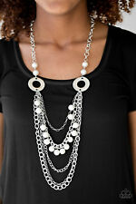 Paparazzi BELLES and Whistles WHITE necklace set