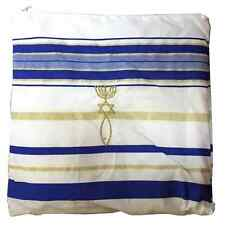 Messianic Tallit Prayer Shawl Talit Royal Blue with Talis Bag + Israel Kippah