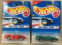 Hot Wheels 1995 Model Series #8 of 12, 1 Red & 1 Green Camaro Convertible, NMIP
