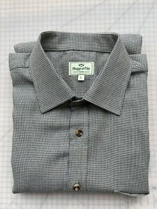 Hoggs of Fife Pin Check Long Sleeved Shirt Large