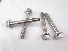 4PCs Titanium Hex Flange Bolt M8X55 1.25mm Hex Head Cap Hexagon Screw No Rust