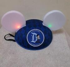 Disneyland Mickey Mouse Hat with Light Up Ears  Diamond 60 Celebration