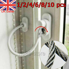 10 White Window Door Cable Restrictor Ventilator Child Safety Security Lock Wire