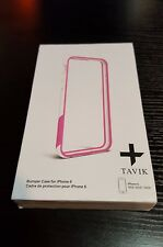 Tavik Outer Edge Bumper frame Case for Apple iPhone 6 6S 4.7 White/Magenta