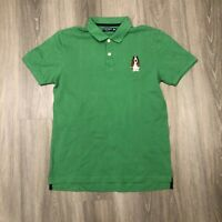 Hush Puppies Mens Large Slim Fit Green Cotton Polo Shirt