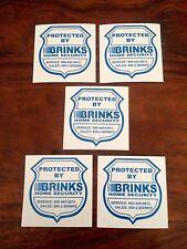 Brink's Home Security Window / Door Decal Stickers,5-pack