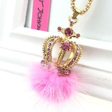 Jewelry Charm Betsey Johnson Pendant Rhinestone Women Crown Gold Chain Necklaces