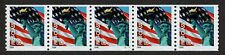 USA, SCOTT # 3967, STRIP OF 5 PNC # S1111, FLAG & STATUE OF LIBERTY, WAG, MNH