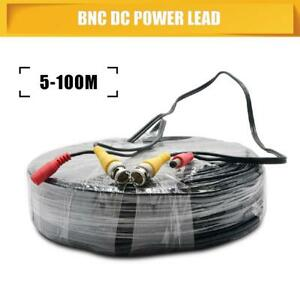 100M BNC Power Lead CCTV Security Camera DVR Video Record Extension Cable AU