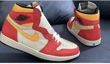 Nike Jordan 1 High Retro Light Fusion Red UK 9.5 US 10.5 Eur 44.5 With Receipt