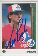 Autographed 1989 Upper Deck Tim Burke - Expos