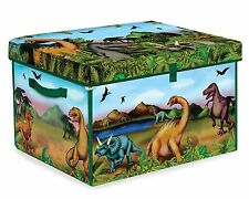 Neat Oh! Kids Dinosaur Zipbin Storage/Playmat Toy Box with 2 Dino Figures