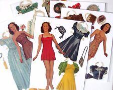 Vintage paper dolls - GLORIA  JEAN -  Original - 3 dolls w/clothes - pre-cut