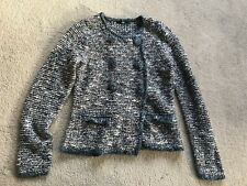 Marks and Spencer knitted tweed style wool blend blazer / cardigan size 8