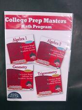 College Prep Masters Act/Sat Test-Prep Package works w/ Windows Vista Nip cd rom