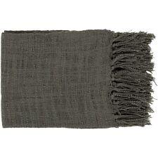 Tilda by Surya Throw Blanket, Black - TID003-5951