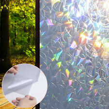 Rainbow Reflective Window Film Insulation Privacy Static Clings Glass Sticker UK
