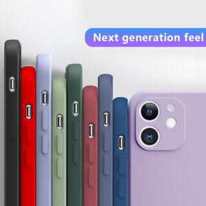 Square Edge Liquid Silicone Case Cover For iPhone 11 Pro Max XS XR 8 7 6 SE 2020