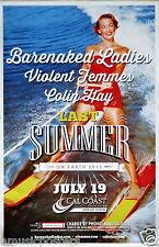 BARENAKED LADIES / VIOLENT FEMMES / COLIN HAY 2015 SAN DIEGO CONCERT POSTER