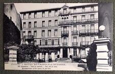 CPA. BIARRITZ. 64 - HOTEL MÉTROPOLE et BAYONNE. Restaurant.
