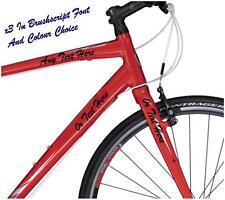 3x PERSONALISED NAME BIKE FRAME STICKERS CUSTOM BICYCLE DECAL VINYL GLOSS MATT