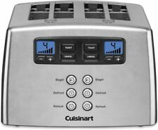 Cuisinart Touch to Toast Leverless toaster, 4-Slice, Brushed Stainless Steel NEW
