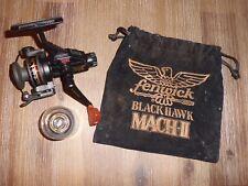 NOS Vintage Fenwick Black Hawk Mach-II Spinning Reel w/ Spare Spool & Pouch-MINT
