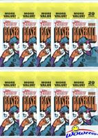 (10) 2021 Topps Heritage Baseball HUGE Factory Sealed JUMBO FAT Packs-200 Cards!