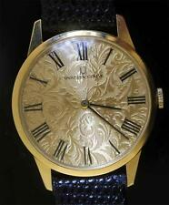 "UNIVERSAL GENEVE 14kt Yellow Gold Wristwatch UNIQUE DIAL ""RARE MODEL"""