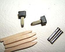 "2x 9/32"" 7.5mm 120pin BLACK METAL STILETTO HIGH HEEL SHOE TOP TIPS TUBE KIT PAIR"
