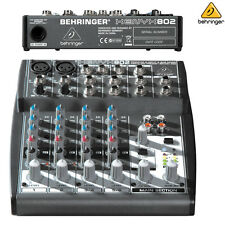 Behringer Xenyx 802 Compact 8-Channel Audio Mixer NEW l USA Authorized Dealer