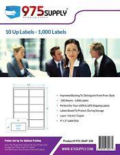975 Supply Premium Address Labels 10up 4 X 2 1000 Labelspack