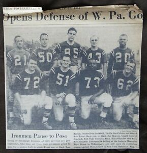 Pittsburgh Valley Ironmen (ACFL) Football 1964 Group Photo newspaper clipping