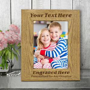 Personalised Wooden Engraved Photo Frame For Mum Dad Nan Gran Fathers Day Gifts
