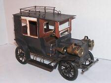 Model T Sedan Toy Metal Folk Art Old Car Vintage Oldtimer Auto Handmade Decor