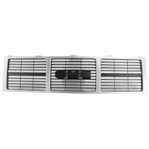 New GM1200401 Front Grille With Emblem Provision for GMC C1500 1985-1988