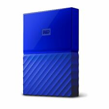 WD Western Digital My Passport 2TB 2 TB Portable External Hard Drive HDD Blue